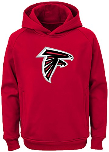Outerstuff NFL Youth Team Color Performance Primary Logo Pullover Sweatshirt Hoodie (Large 14/16, Atlanta -