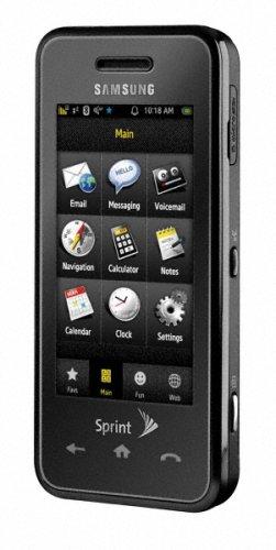 amazon com samsung instinct sph m800 phone black sprint cell rh amazon com Sprint Samsung Phones All Samsung Phones