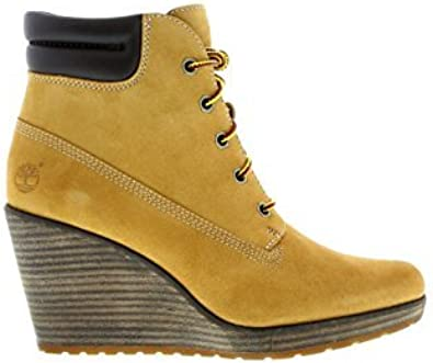 TIMBERLAND Zeppa donna marrone in pelle