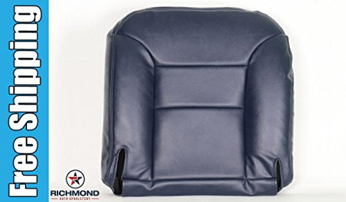 1995 1996 1997 1998 1999 Chevy Silverado 3500 Crew-Cab Long-Bed Short-Bed LT LS -Driver Side Bottom Replacement Leather Seat Cover, Blue (4wd Quad Cab Bed Short)