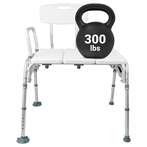Vive Bariatric Tub Transfer Bench - Heavy Duty Bath & Shower Assist -