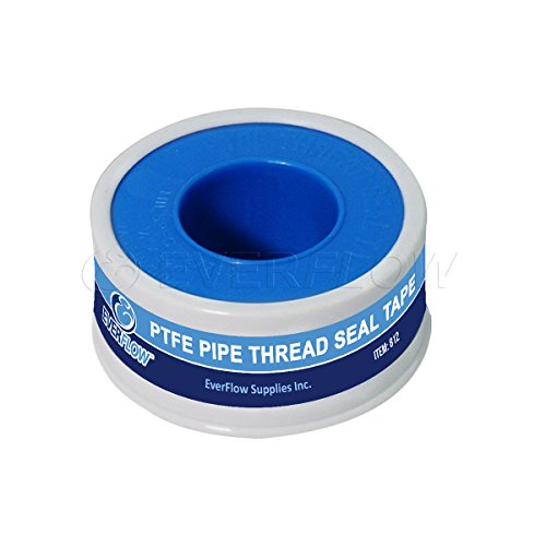 Seal Thread Tape (Everflow 812 PTFE Thread Seal Tape for Plumbers, White 3/4 Inch x 260 Inch)