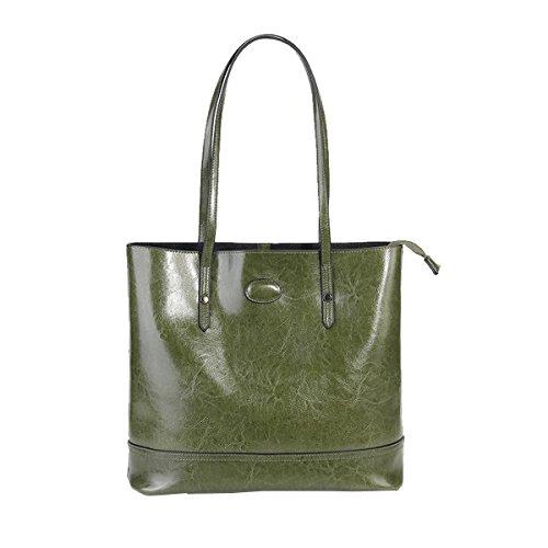 Sac en Sac Vert épaule E fashion Girl main cuir main portés portés femme à Sac 8956 LF Oat0q