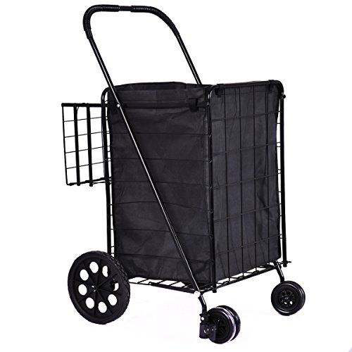durable-steel-rubber-extra-folding-shopping-cart-swivel-wheels-use-for-trolley-grocery-laundry-super