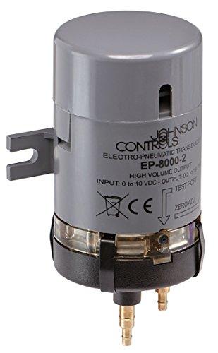 Johnson Controls EP-8000-2 Electro-Pneumatic Transducer, High Volume Relay, 0.25 to 9.5 Vdc Input Range