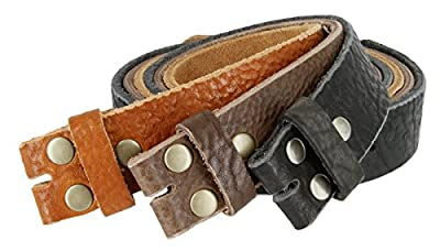 Mens Full Grain Genuine Cowhide Leather Belt Strap Hand-Crafted In USA