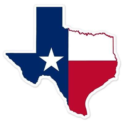 "Texas State Map Flag car bumper window sticker 4"" x 4"": Automotive"
