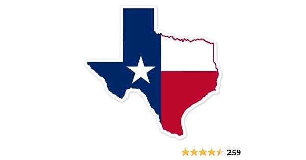 Texas Flag Sticker Car Decal Bumper Sticker Lone Star State Truck Window 5 Medium