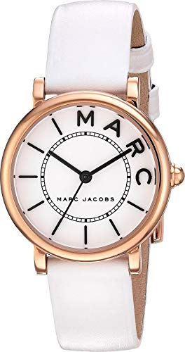 Marc Jacobs Women's 'Roxy' Quartz Stainless Steel and Leather Casual Watch, Color:White (Model: MJ1562)