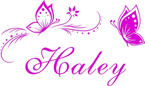 Charming Personalized Name & Butterflies Vinyl Wall Decal Sticker Home Decor for Girls Room -You Choose Name and Color