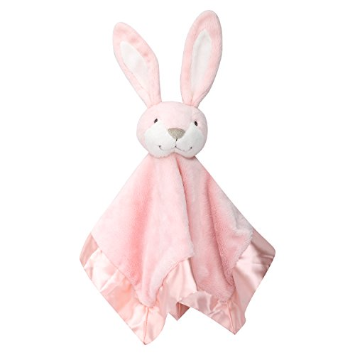 Zooawa Baby Security Blanket, Soft Stuffed Animal Bunny Plush Security Blanket Soothing Toy for Baby Toddles Kids, Rabbit