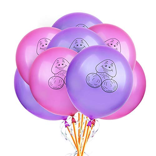Bachelorette Party Balloons RoseRed and Purple Amount 100 pcs, l'aise vie 10 inch Funny Balloons Fun Image Naughty Balloons Interesting Party Balloons Suitable for Hen Party(Included Free Hand -