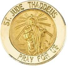 14k Yellow Gold St. Jude Lapel Pin 15mm