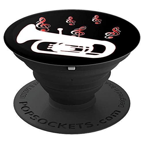 Bass Brass Tuba (Tuba Brass With Bass Clef - PopSockets Grip and Stand for Phones and Tablets)