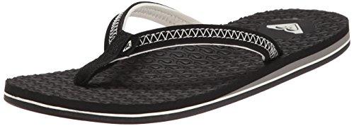 Roxy Women's Lava Flip Flop, Black, 6 M US