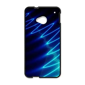 Happy Bright Blue Wave Hot Seller Stylish Hard Case For HTC One M7