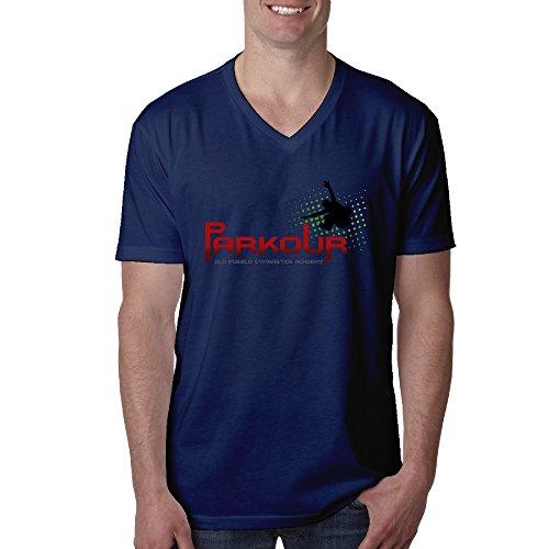 Bang Men's Parkour Logo V-Neck T-Shirt Navy