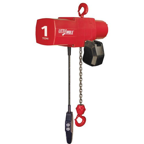 Coffing; Little Mule Electric Chain Hoist with Chain Container, 1000 Lb Cap