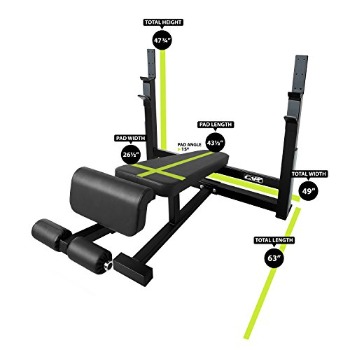 CAP Barbell 300-Pound Black Olympic Grip Set with Olympic Decline Bench by CAP Barbell (Image #1)