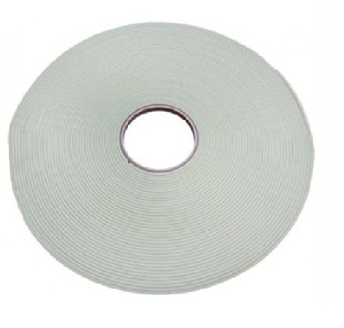 Glass Safety Double Sided Glazing Tape White 3mm x 10mm x 50m Transtools