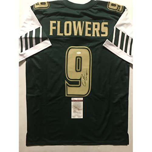 Autographed Signed Quinton Flowers South Florida USF Bulls Green Football  Jersey JSA COA be5b0ac42