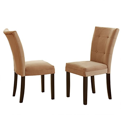 Addison Grace Home Decor Martin Parsons Chair, Camel, Set of 2 - Chair Traditional Parsons Chair