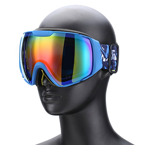 Weanas Double Lens Anti-fog Snow Goggles Ski Goggles Eyewear, Lightweight Windproof Comfortable, for Snow, Skiing, Snowboarding - Eyewear Lightweight