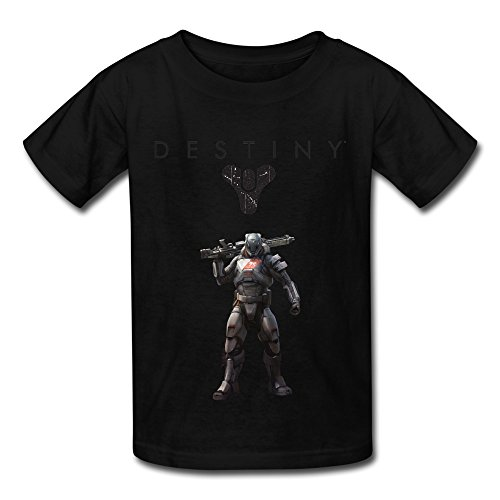 Price comparison product image QMY Kid's Vintage Destiny Logo T-shirts Size S Black