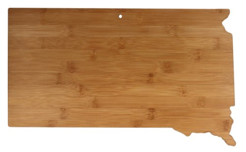Totally Bamboo State Cutting & Serving Board, South Dakota, 100% Bamboo Board for Cooking and Entertaining Crazy Horse Dakota