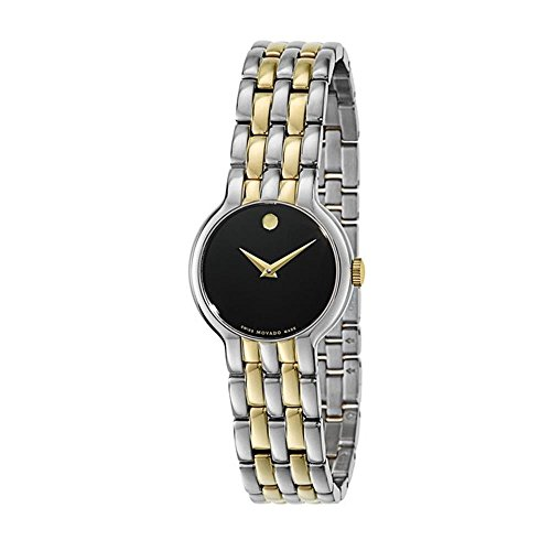 - Movado Veturi Black Dial Two-Tone Ladies Watch 0606933