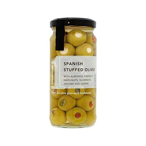 Spanish Stuffed Green Olives Waitrose 240g - Pack of 2