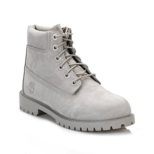 Timberland Junior Mono Gris 6 Inch Premium Waterproof Botas-UK 6.5