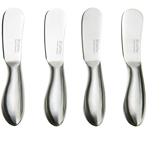 BlizeTec Multipurpose Cheese and Butter Spreader Knives (4 Pcs) (Cheese Spreader Set)