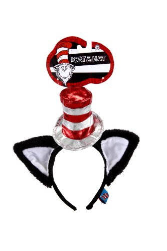 The Cat In The Hat Costume For Women (The Cat in the Hat Deluxe Headband with Ears by elope)