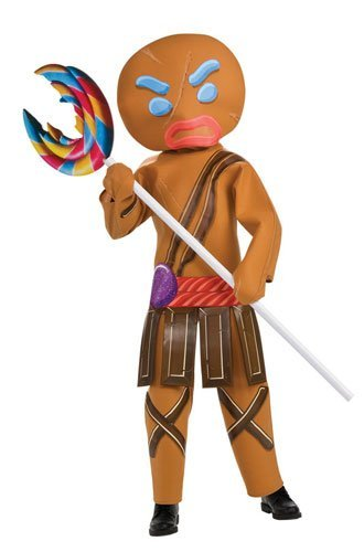 Shrek Gingerbread Man Costume (Shrek Child's Costume And Mask, Gingerbread Man Warrior Costume by Rubie's)