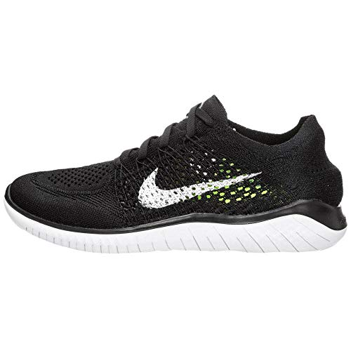 Nike Mens Free RN Flyknit 2018 Running Shoes (13) Black/White (Best Nike Running Shoes Of All Time)