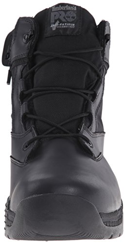 Side Soft Zip 6 Leather Timberland Ballistic Work Smooth Men's Inch Valor Nylon Boot Toe PRO WP Black wwzx8X