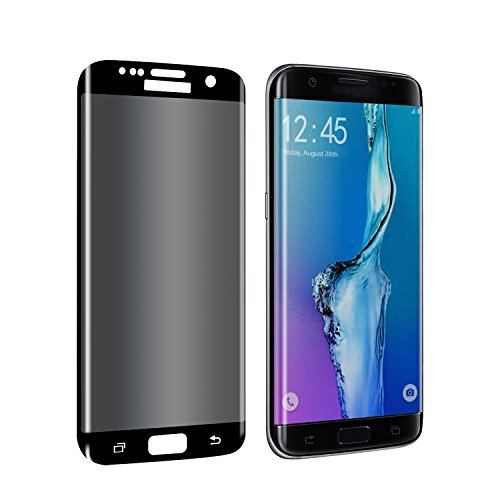 Galaxy S7 Edge Privacy Screen Protector, YCFlying S7 Edge Premium 3D Curved  Anti-Spy Tempered Glass Full Coverage Screen Guard for Samsung Galaxy S7 Edge (Black)