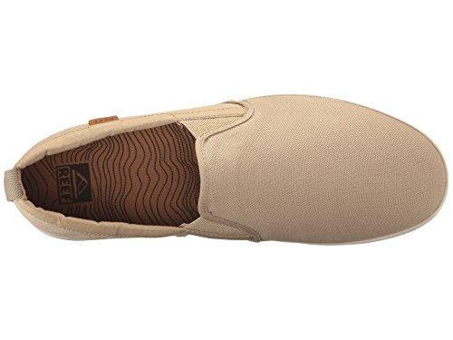 Reef Mens Grovler Canvas Slip On Shoes Khaki Size 8 jMufJIYG