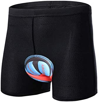 NICEJW NICEJW Outdoor Cycling 3D Breathable Thick Silicone Padded Breathable Shockproof ShortsBlack Black M