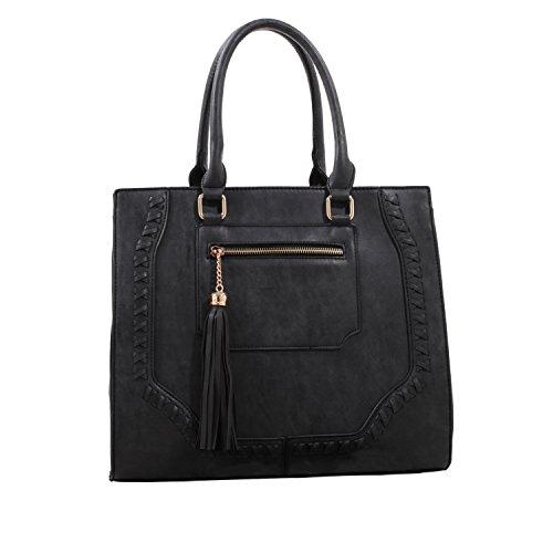 MKF by Crossbody Collection K Mia Farrow Sophisticated Mia Designer Black Handbags nnx1ZqAF7