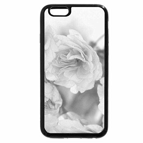 iPhone 6S Plus Case, iPhone 6 Plus Case (Black & White) - Pink roses