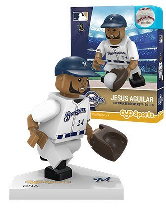 Oyo Sportstoys MLB Milwaukee Brewers Sports Fan Bobble Head Toy Figures, Navy Blue/tan, One Size