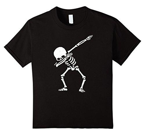 [Kids Dabbing Skeleton Shirt Dab Hip Hop Skull Shirts 10 Black] (Skeleton Costume Pose)