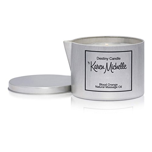 Destiny Candle by Karen Michelle Blood Orange Scented Massage Oil Candle - Aromatherapy Beautiful Piece of Jewelry Inside | A Perfect Way to Rekindle The Romance