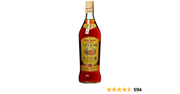 Ron miel canario artemi, miel Rum LIQUEUR, Kana rische Islas, licor (1 x 1 l)