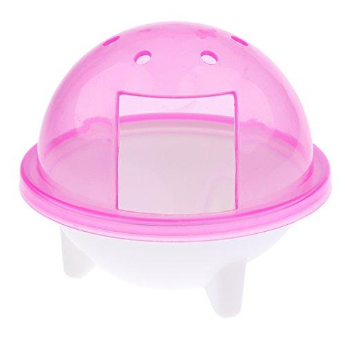 Dolity Chinchilla Ferret Bath Pool Pet Dust Sand Bathroom Shower Hamster Toilet Bathtub - Pink
