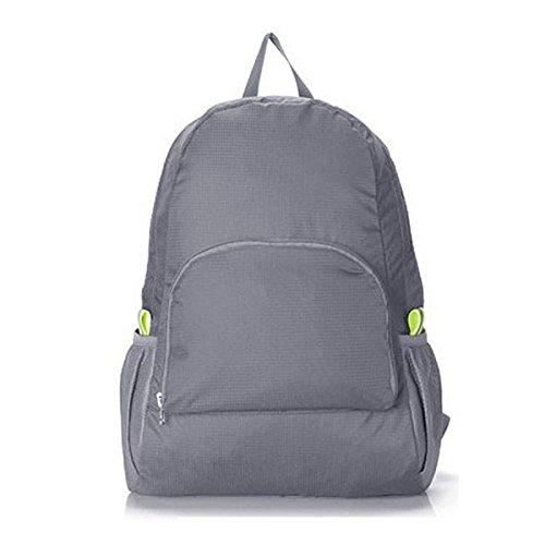 5197c725ec12 TOOGOO(R) Lightweight Foldable Waterproof Nylon Women Men Skin Pack Backpack  20L Travel Outdoor Sports Camping Hiking Bag Rucksack(grey)  Amazon.co.uk   ...