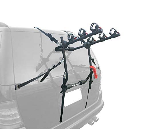 Tyger Auto TG-RK3B203S Deluxe 3-Bike Trunk Mount Bicycle Bike Rack. (Fits Most Sedans/Hatchbacks/Minivans and SUVs.) ()
