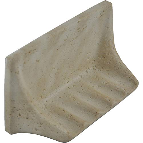 Vogue Tile Premium Quality Classic Light Travertine Resin Soap Dish Holder ()